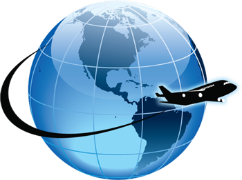 plane-globe-secured-courier